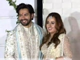 Video : First Look At Newlyweds Varun Dhawan And Natasha Dalal From Alibaug Wedding