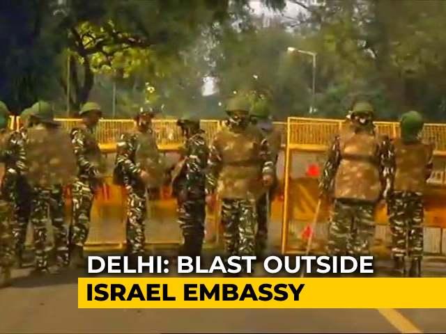 Video : Minor Blast Near Israel Embassy Sparks Scare In Delhi's VIP Zone