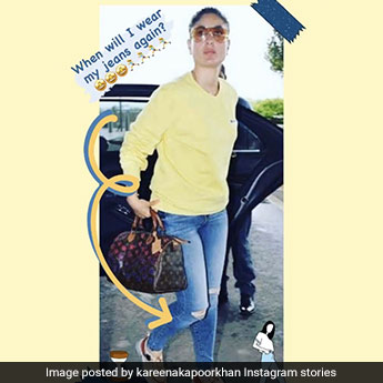 In A Stylish Throwback Picture, Kareena Kapoor Hopes To Wear Jeans Soon