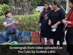 कॉमेडियन Sudesh Lahri बेचने लगे सब्जी, ग्राहक के आते ही हो गई मजेदार झड़प- देखें Video