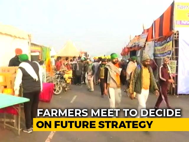 Video : Farmers Group Calls Meeting At Singhu Border To Decide Future Strategy