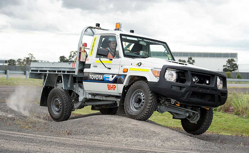 Toyota Land Cruiser Electric Sweats It Out In A Mine