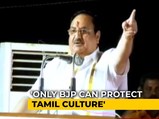 Video : BJP And AIADMK Will Fight Tamil Nadu Election Together, Says JP Nadda