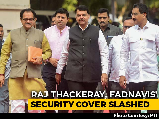 """Video : Security Cover For Devendra Fadnavis, Others Reduced. BJP Says """"Vendetta"""""""