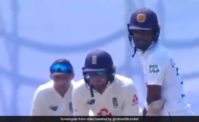 Joe Root sledges Dinesh Chandimal before dismissal Watch viral Video