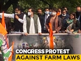 Video : 'Laws Meant To Finish Farmers': Rahul Gandhi Leads Congress Delhi Protest