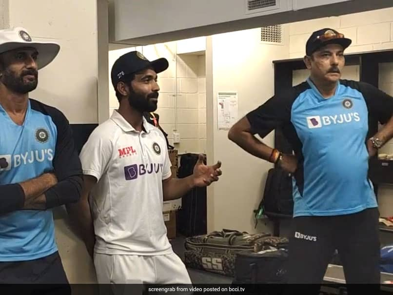 Ajinkya Rahanes Dressing Room Speech At The Gabba After Test Series Win In Australia. Watch