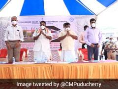 Puducherry Chief Minister V Narayanasamy Lays Foundation Stone For Rs 12.19 Crore Sports Stadium