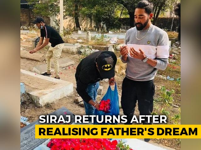 Video : Mohammed Siraj Goes To Father's Grave Immediately After Landing In Hyderabad