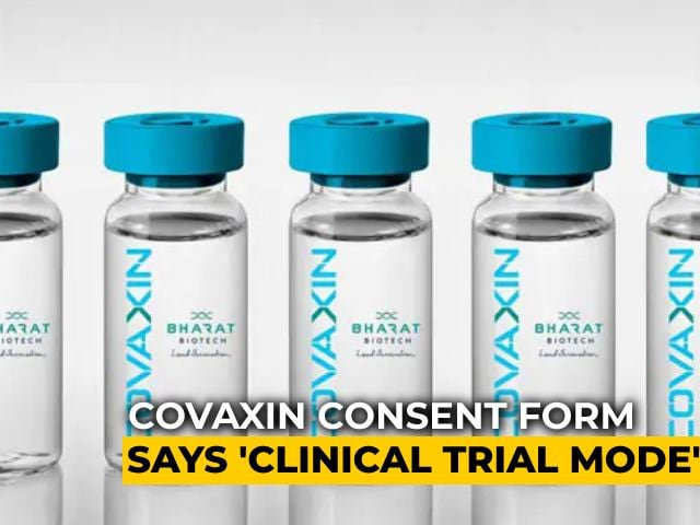 """Video : """"In Case Of Adverse Events..."""": What Covaxin Consent Form Says"""