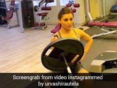 उर्वशी रौतेला जिम में एक्सरसाइज करती आईं नजर, एक हाथ से उठाया 30 किलो वजन- देखें Video
