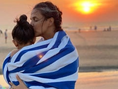 "Neha Dhupia's ""Magic Hour"" Post Featuring Daughter Mehr Is Everything"