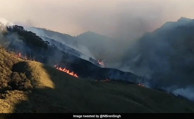 Dzuko Wildfire At Manipur Border Blazing, 4 Air Force Helicopters Rushed