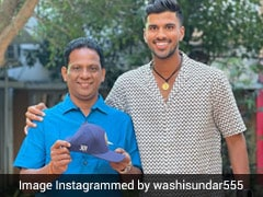 "Washington Sundar Flaunts ""Priceless Possessions"", Shares Picture With Father"