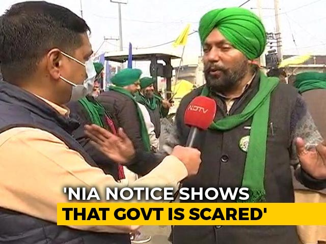"""Video : """"NIA Notice Shows Government Is Scared"""": Farmer Leader Tells NDTV"""