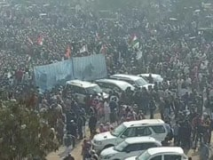"Big Crowd At Farmer ""<i>Mahapanchayat</i>"" After Viral Clip Of Leader In Tears"