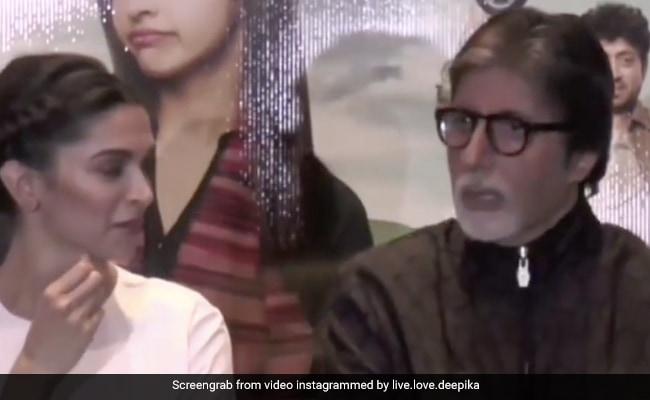 दीपिका पादुकोण ने अमिताभ बच्चन पर प्रेस कॉन्फ्रेंस में लगाया आरोप, थ्रोबैक Video में बोलीं- मेरा खाना चुराते हैं