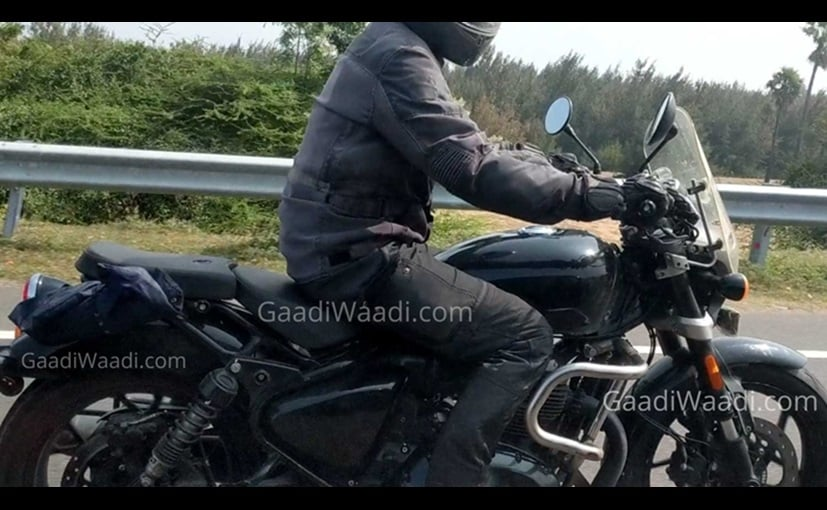 Upcoming 650 cc Royal Enfield Cruiser Spotted Testing With New Features