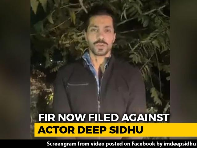 Video : Actor-Activist Deep Sidhu Named In Case On Tractor Rally Violence