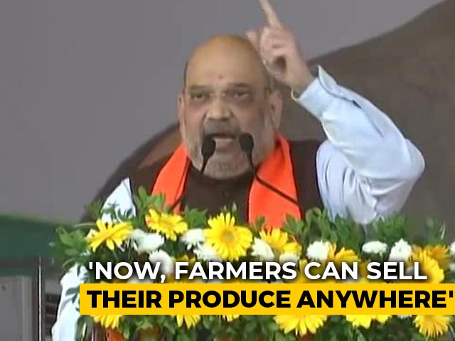 Video : Modi Government Committed To Working For Welfare Of Farmers: Amit Shah