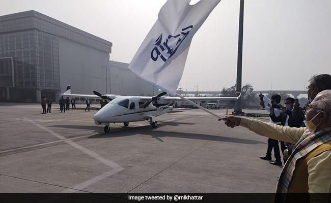 उड़ान चंडीगढ़ से हरियाणा स्थित हिसार के लिए थी.
