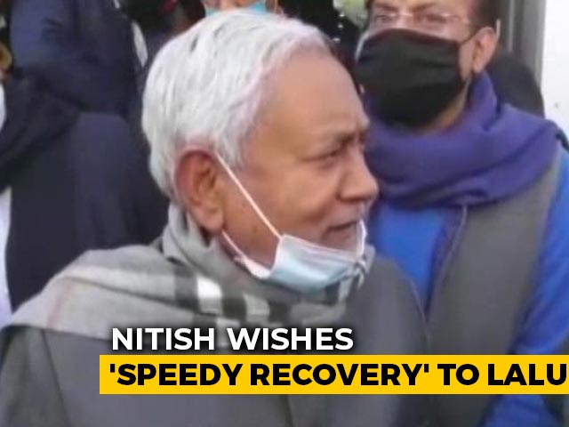 "Video : Nitish Kumar Wishes ""Speedy Recovery"" To Lalu Yadav, Refuses To Call"
