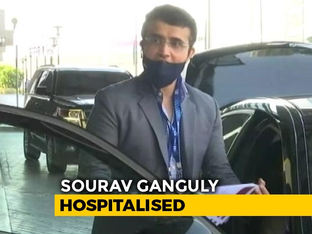 Video : Sourav Ganguly In ICU In Kolkata After Sudden Illness