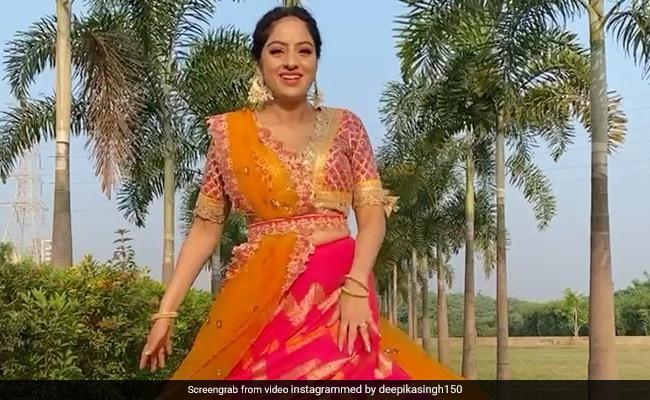 Deepika Singh ने पिंक कलर का लहंगा पहन गार्डन में यूं किया डांस, शेयर किया Video