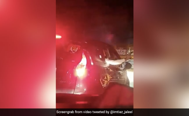 Watch: Men Wave Guns On Maharashtra Expressway, Car Has Shiv Sena Sticker