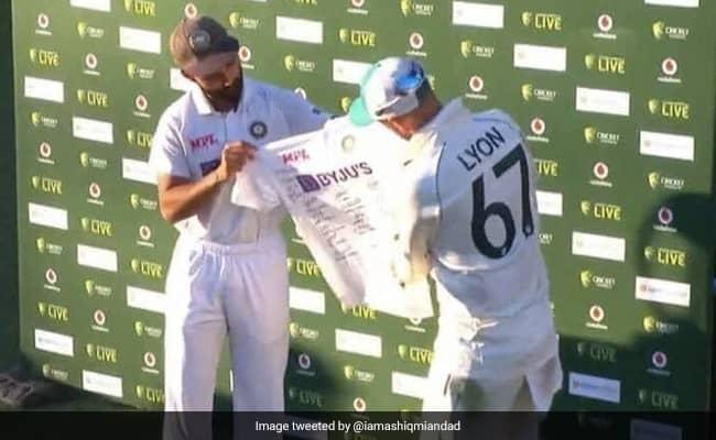 Ajinkya Rahane wins hearts by presenting signed jersey to Nathan Lyon before lifting Border-Gavaskar Trophy
