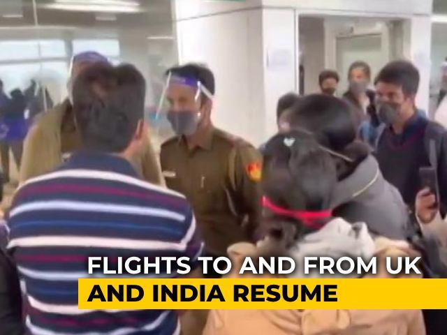 Video : UK-India Flights Resume: Chaos At Delhi Airport