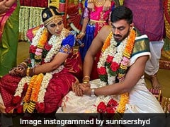 Vijay Shankar Marries Vaishali Visweswaran, SunRisers Hyderabad Send Best Wishes