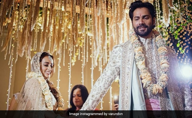 Varun Dhawan And Natasha Dalal Are Married. First Pic Of Pheras From Alibaug Wedding