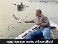 Shikhar Dhawan Feeds Birds On Varanasi Boat Ride, Boatman May Face Action