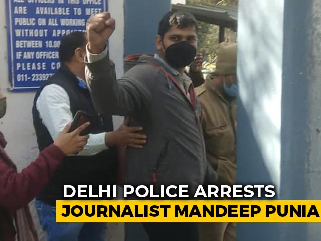 Video : Journalist Arrested At Farmers' Protest Site