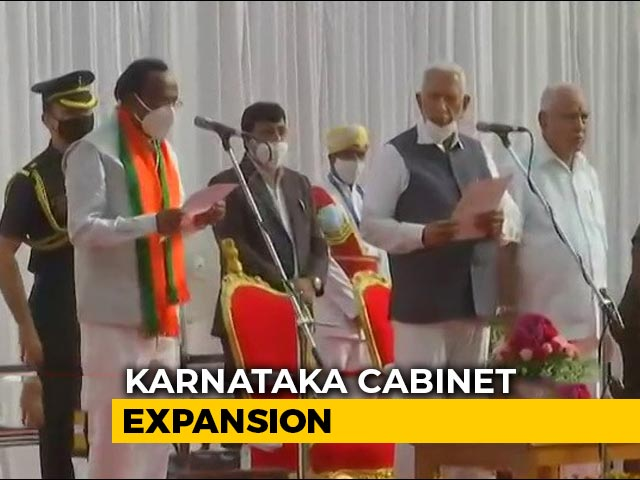 Video : As BS Yediyurappa Expands Karnataka Cabinet, 7 Ministers Take Oath