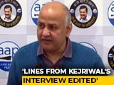 Video : Arvind Kejriwal's Video On Farm Laws Doctored: Manish Sisodia Slams BJP
