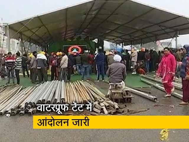 Videos : बारिश से बचने के लिए किसानों ने तैयार किया वाटर प्रूफ टेंट