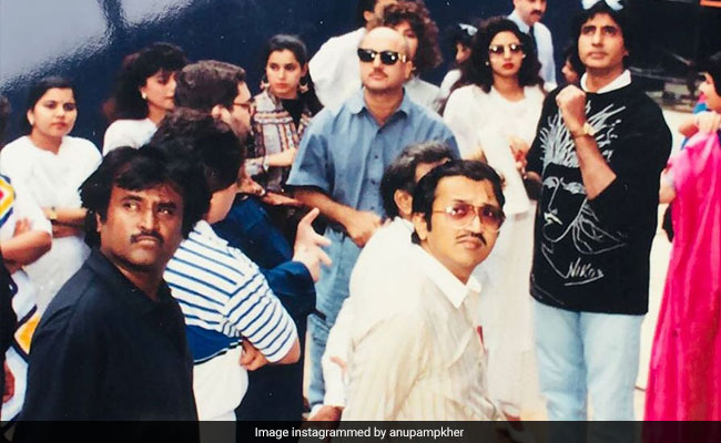 When Rajinikanth, Sridevi, Amitabh Bachchan Took Over New York. See Anupam Kher's Throwback Pic