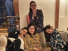 "Mom-To-Be Kareena Kapoor Toasts To ""New Beginnings"" With Karisma, Malaika, Amrita"