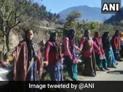 Human Chain Formed In Uttarakhand To Demand Widening Of Road