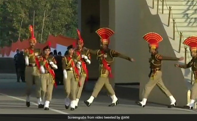 Beating Retreat Ceremony At Attari Border Draws Overwhelming Cheer Despite Thin Crowd