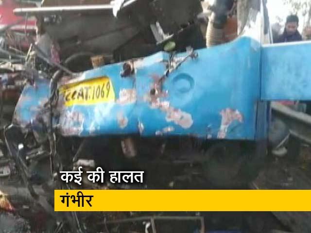 Videos : यूपी: मुरादाबाद में 3 गाड़ियों की जबरदस्त टक्कर, 10 की मौत, कई घायल