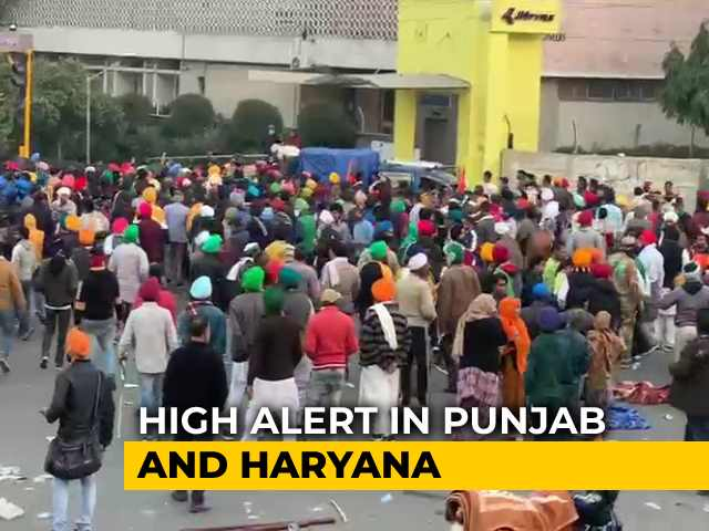 Video : Protestors Removed From Red Fort, High Alert In Punjab, Haryana