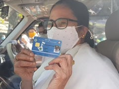 """""""I Am A Commoner"""": Mamata Banerjee Queues Up For State Health Card"""
