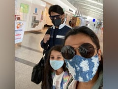 Mahesh Babu And Family En Route Dubai To Celebrate Namrata Shirodkar's Birthday
