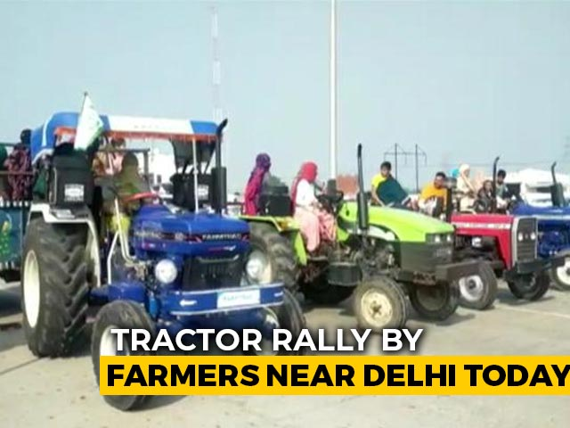 Video : Tractor Rally By Farmers Near Delhi Today, Traffic Diversions
