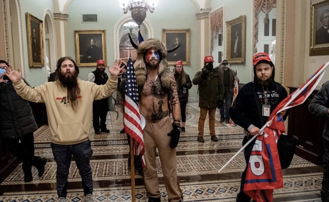 Trump Supporter Seen In Horned Fur Hat Charged In US Capitol Violence