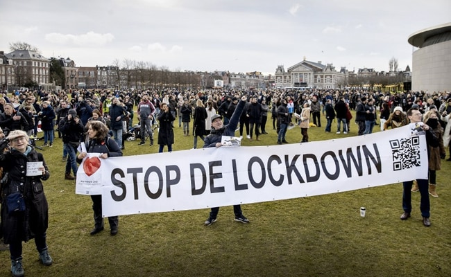 Protests Against Covid Lockdown In Netherlands Lead To Clashes With Cops