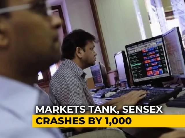 Video : Sensex Tumbles Over 900 Points, Nifty Breaks 14,000; Financials, Metals Drag